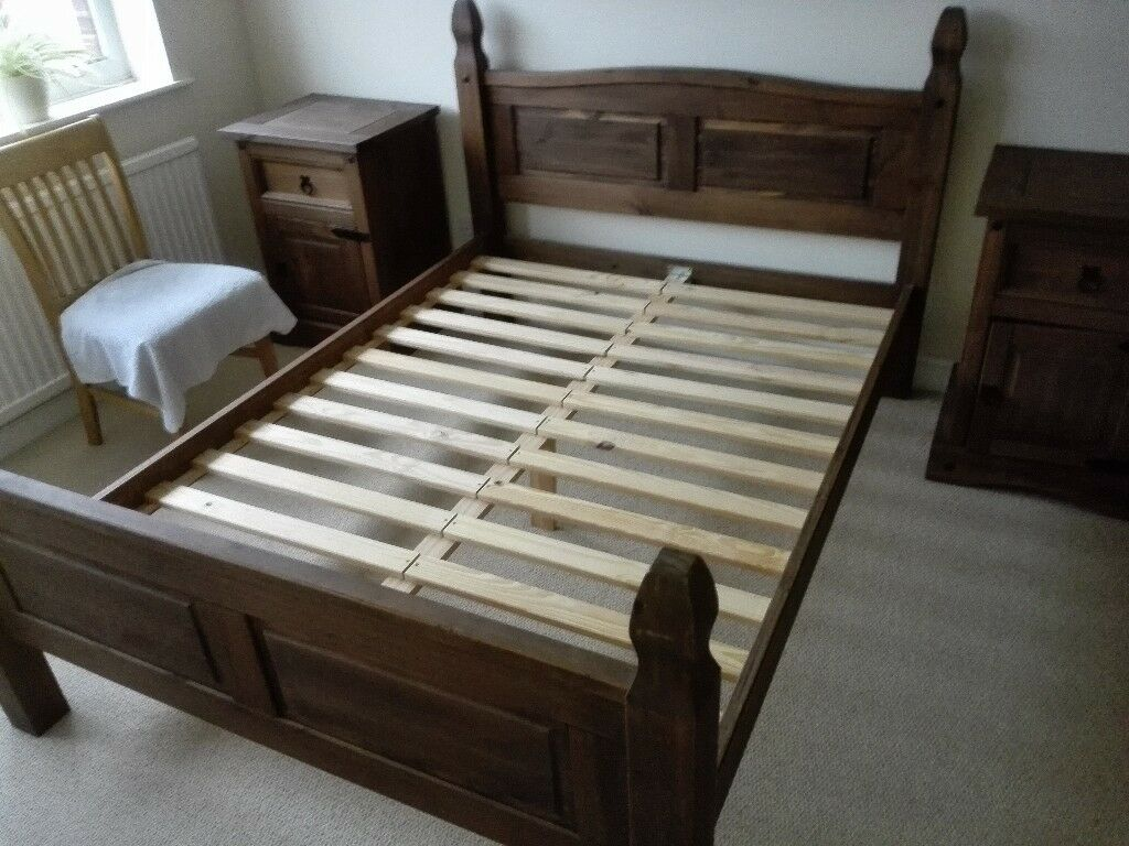 puerto rico mexican corona style double bed frame 2. Black Bedroom Furniture Sets. Home Design Ideas