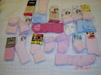 KIDS SOCKS NEW 20 PAIRS FROM NEW BORN TO ONE YEAR