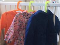 Bundle of 3 Baby Girl Jackets, 12-18 months