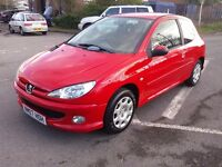 PEUGEOT 206 1.4 LOOK 84000m LOW INSURANCE GROUP ELECTRIC WINDOWS PART EXCHANGE WELCOME