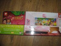 kids designer magical fairies murel 8ft x 10ft 12 easy stripes bnib walltastic make