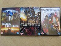 TRANSFORMERS DVD BUNDLE – 3 ORIGINAL DVDs £2