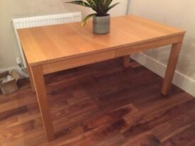 Oak Extendable 4 Seat Dining Room Table