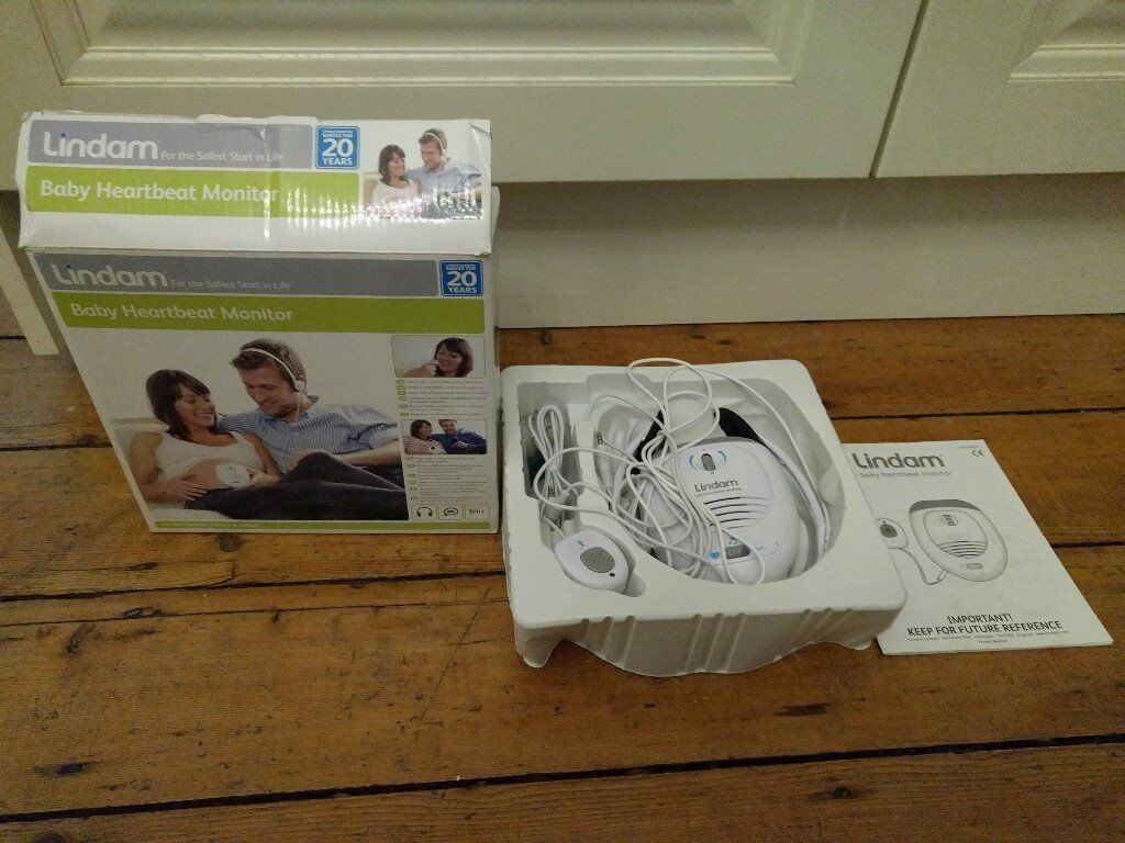 Lindam baby heartbeat monitor boxed with manual as