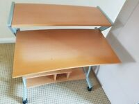 Study (computer) desk with compartments