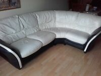 brown and cream sofa corner for sale