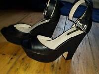 Zara black wedge shoes