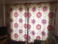 "Next flower curtains 66""x 90"