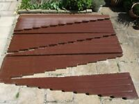 Car Port - Cantilever Type complete with Guttering - Brown finish 7.25 x W 2.4 m