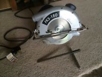 Circular Saw - 240v FERM FKS 180, complete as purchased and in excellent condition.