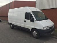 Man and large van