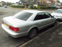 2002 AUDI A8 LWB 4.2 QUATTRO Petrol Automatic with BIG SPEC & only 95K MILES with FSH & MOT