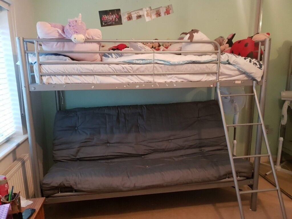 Futon Bunk Bed Frame And Futon Mattress For Sale In Halesowen