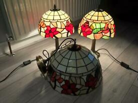 Tiffany table lamps and lampshade