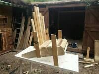 Rustic handmade garden furniture