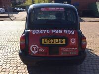 LTI TAXI TX2 2003 LATE TYPE INTERIOR AUTOMATIC EX COVENTRY CAB IMMACULATE CONDITION AI ENGINE