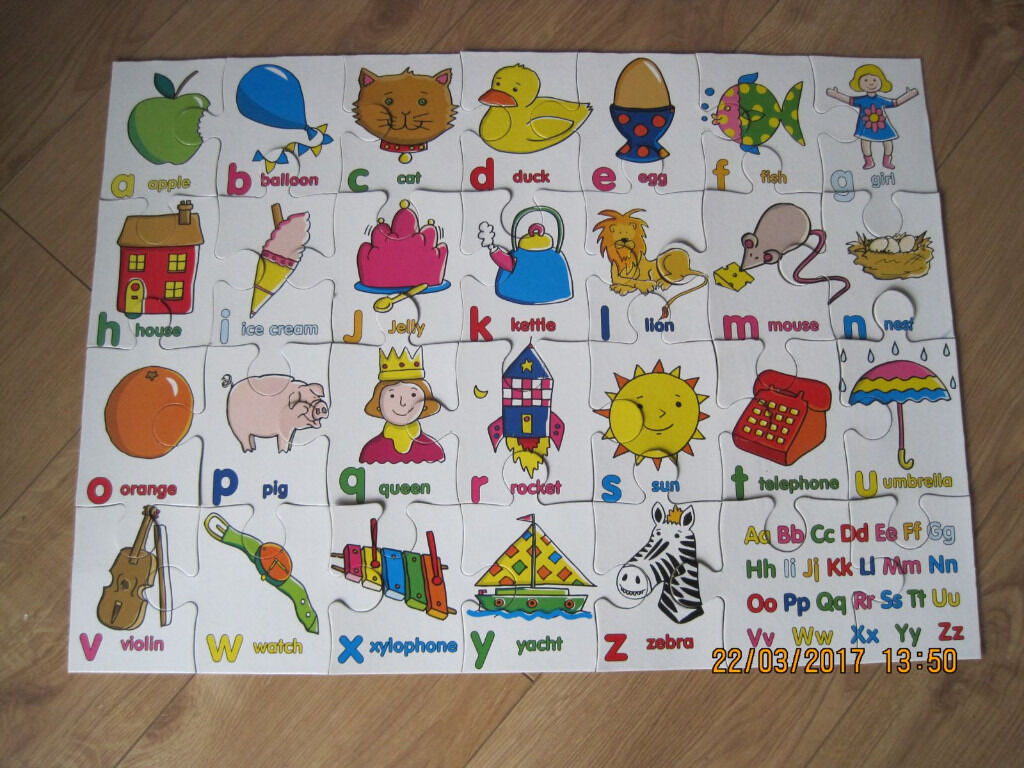 Alphabet Floor Puzzle All Pieces In The Box As Shown Great Price