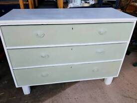 Upcycled old chest of drawers deep drawers to clear