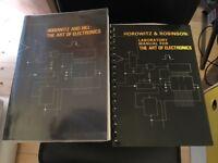 Horowitz Hill The Art of Electronics electronics text books including uber-rare laboratory manual