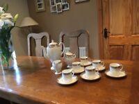 Wedgewood Fine Bone China 'Waverley' Coffee Set