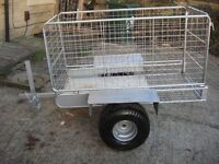 garden trailer galvanized ready to use