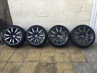 Nissan GTR MY14 OEM DBA Alloy Wheels - Pirelli P Zero Tyres - TPMS Sensors