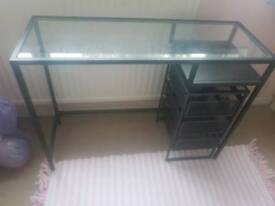 Slim glass top laptop desk