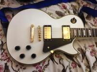 epiphone les paul classic guitar arctic white