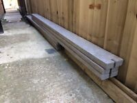 Concrete gravel boards / 6x / 2.88m(9'5.5'') x 150mm(6'') x 50mm(2'') / £90 ono