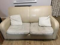 Leather/Fabric Sofabed (Sofabed never used)