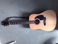 Stagg acoustic six-string guitar with soft case
