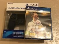 ps4 controller + fifa 18 ronaldo edition - brand new and sealed for playstation 4