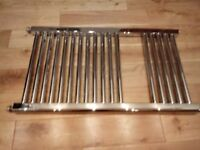 Chrome straight ladder towel radiator 780 x 450mm