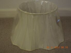 SHADE for Standard Lamp - Cream Fabric, fully lined - New & Unused