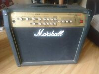 Marshall AVT100 DFX Guitar amplifier with footswitch