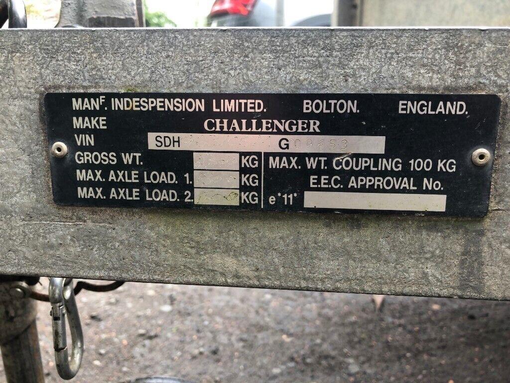 Indespension Challenger Twin Axle Goods Trailer | in Falkirk | Gumtree
