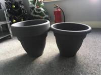 Garden pots pladtic
