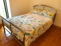 Stainless steel Double Bed + Mattress
