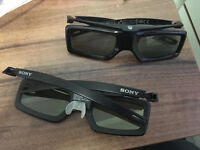 Sony active 3D glasses, 2 pairs