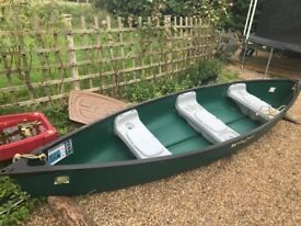 14 foot Canadian canoe with accessories