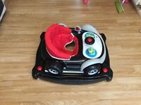 Racing car stroller and rocker