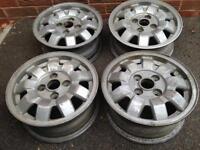Mk1 vw golf alloy wheels 4x100