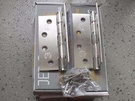 Pair JEDO Collection 102 x 76 x 2mm Stainless Steel Washered Hinge