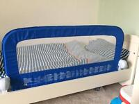 Mothercare blue canvas bed guard rail toddler single bed