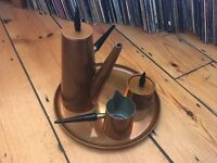 Vintage Argy Europe Retro Atomic Copper Tea / Coffee Set France 1960s
