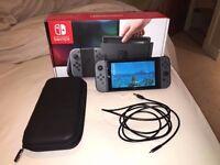 Nintendo Switch + Zelda + Carry Case