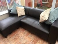 Brown Leather Sofa/Couch for sale