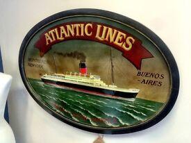 Atlantic Lines - Wall Plaque