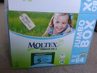 Moltex size 5 junior nappies eco friendly box of 64