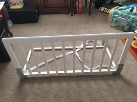BabyDan Wooden Bed Guard Rail - White